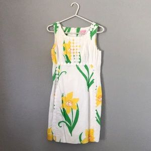Lilly Pulitzer White with Yellow Florals Dress